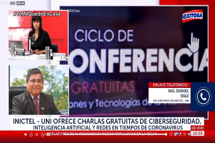 El Ing. Daniel Díaz Ataucuri participó en entrevista de Radio Exitosa