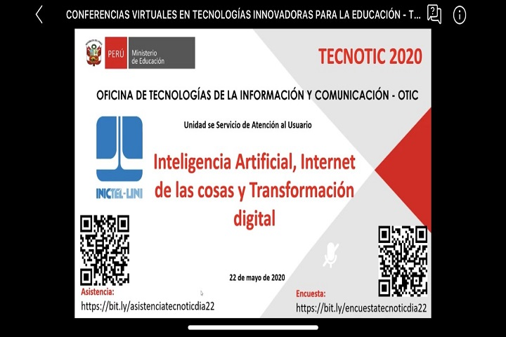 El INICTEL-UNI brindó conferencias en evento TECNOTIC 2020 del MINEDU